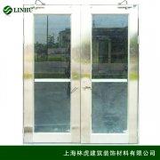 304不锈钢大玻璃防火门